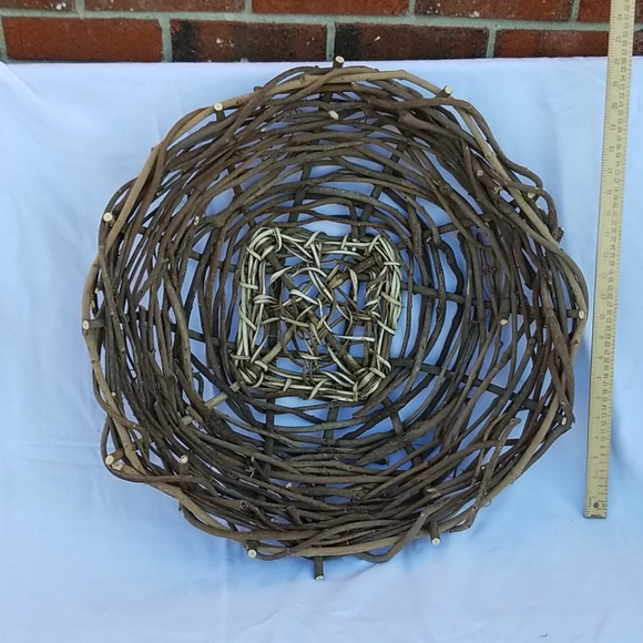 Dried wysteria basket hand crafted.